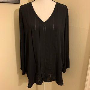 🆕EUC Ann Taylor navy blue 3/4 sleeve blouse XL